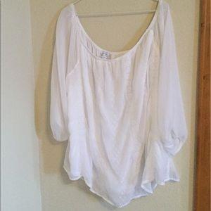 Boutique white eyelet blouse